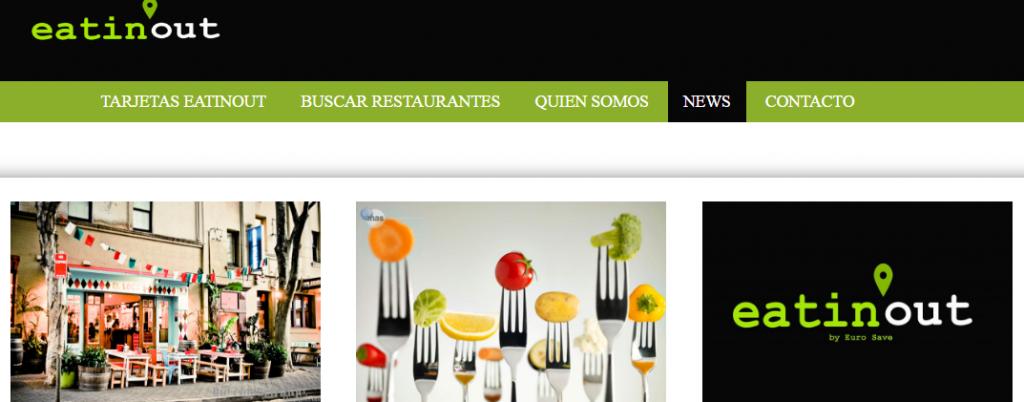 Pagina Web de EatInOut