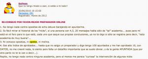 captura de pantalla de la declaración de dufman