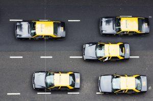 Vista aerea de los taxis de Buenos Aires